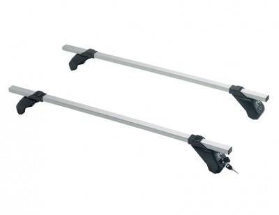 Roof rack with sturdy aluminium alloy supporting structure LP43